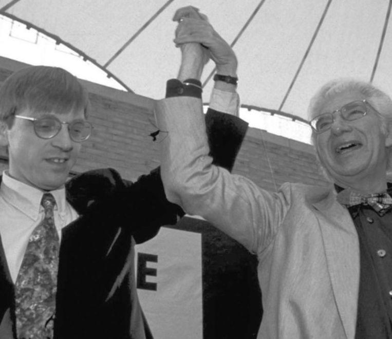 Guy Verhofstadt samen met Willy De Clercq in 1998: 'schier onvermoeibare energie en ambitie'. Beeld UNKNOWN