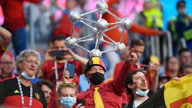 Feest op de tribunes in Sint-Petersburg! Belgische fans verzorgen de sfeer voor en tijdens de match