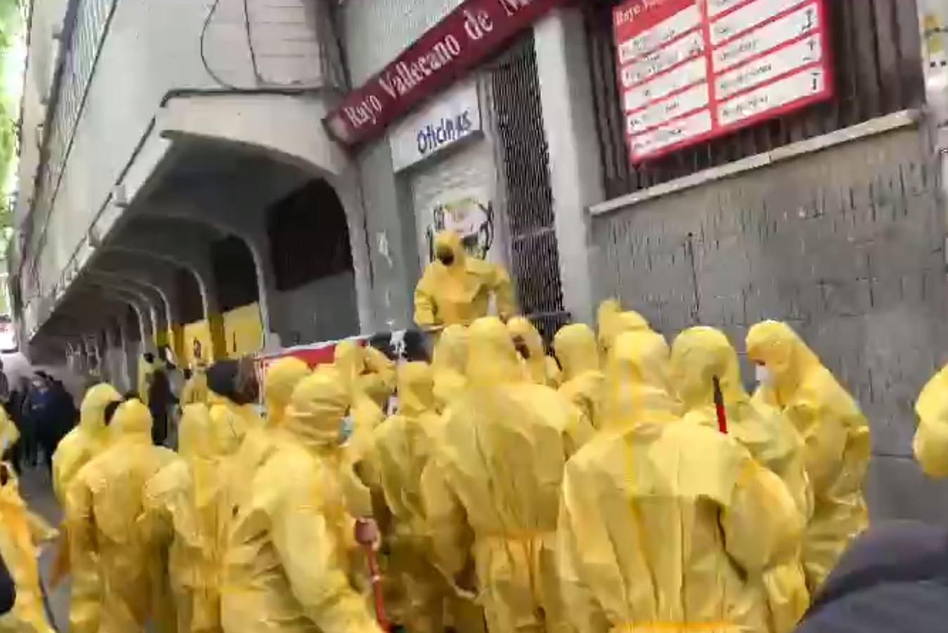 Fans van Rayo Vallecano.