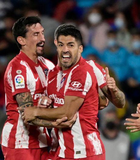 Luis Suárez redt Atlético Madrid met twee late goals tegen Getafe