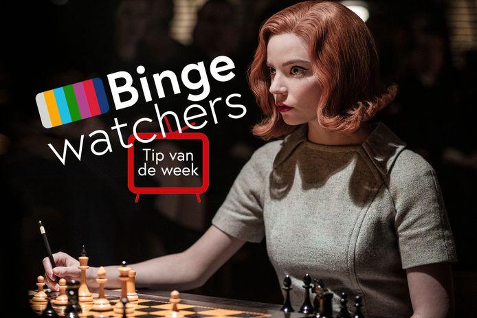 Anya Taylor-Joy als Beth Harmon in The Queen's Gambit van Netflix