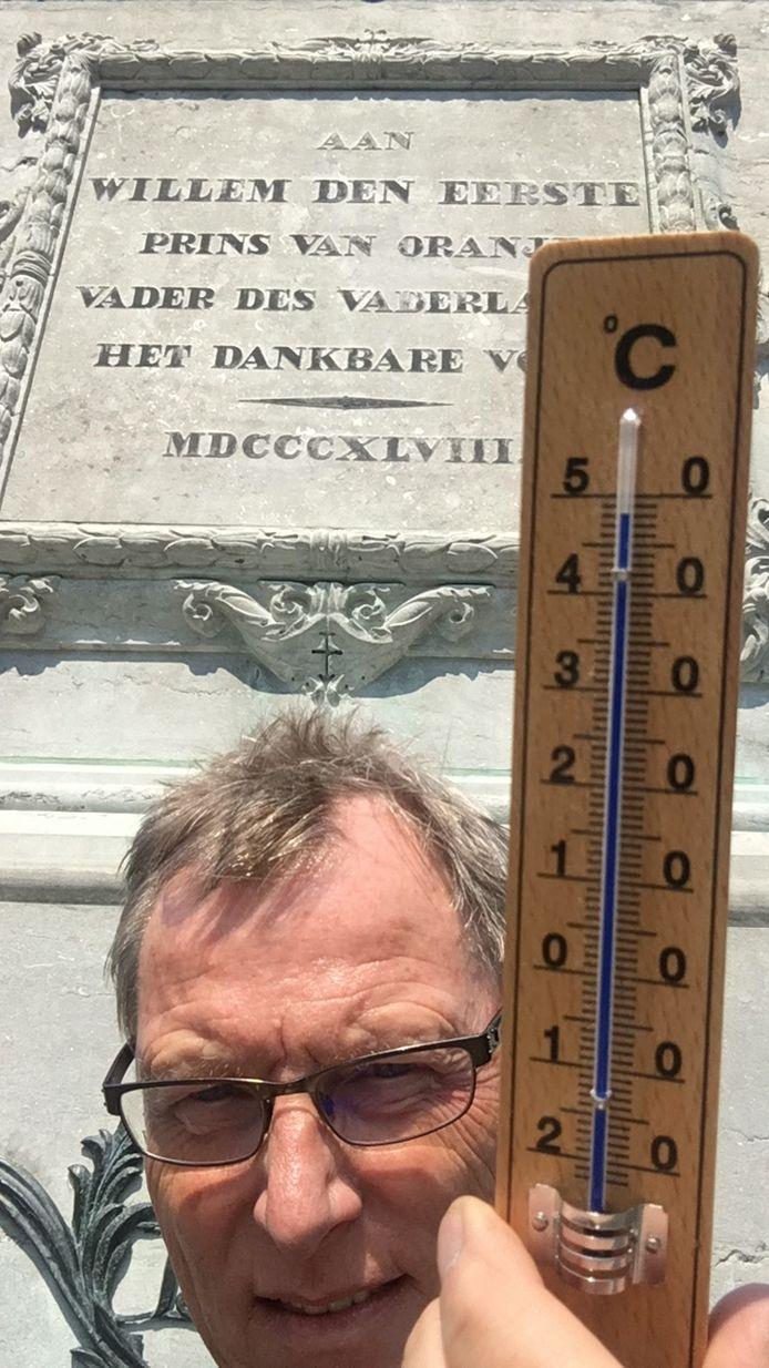 Op het Plein in Den Haag bereikte de thermometer 48 graden