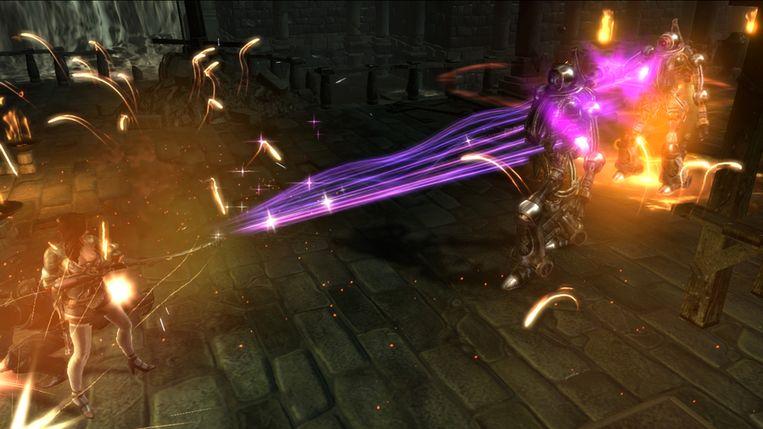 Mechanische griezels krijgen de volle laag in Dungeon Siege III. Beeld
