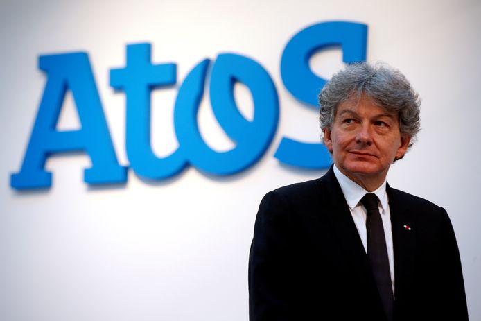 Thierry Breton, de voormalige CEO van Atos heeft zijn aandelen verkocht om toe te treden tot de Europese Commissie.