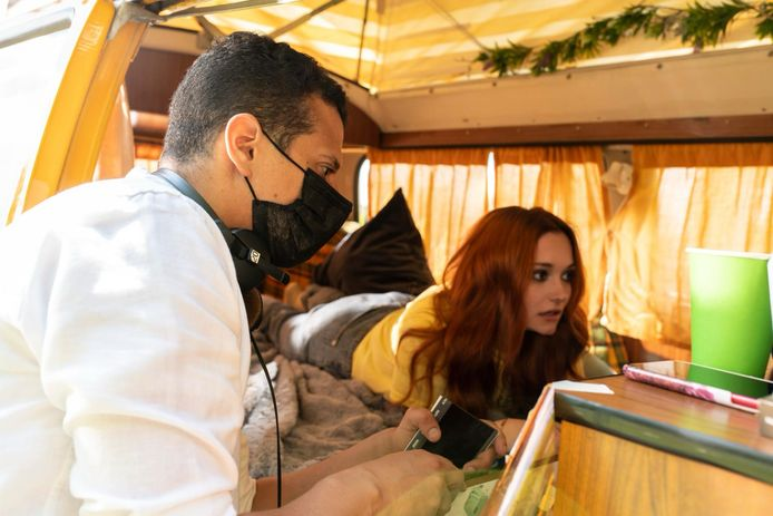 Regisseur Mohamed Charef en Natalija Surlich.