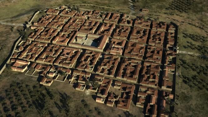 Loop virtueel door oude Romeinse stad