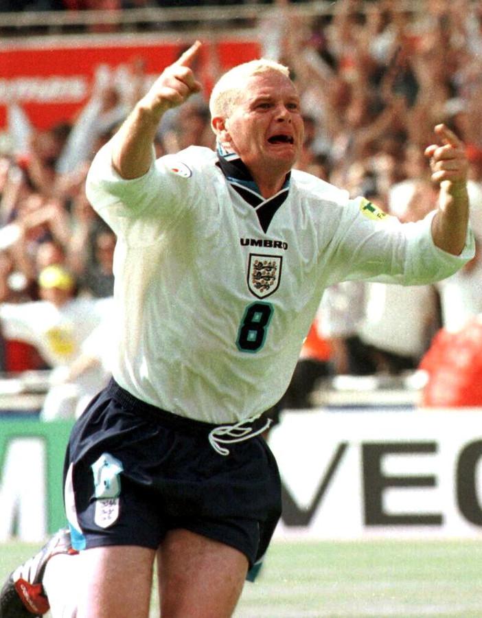 Paul Gascoigne op het EK van 1996.