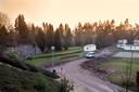 De Muur van Mussert in de huidige staat op camping De Goudsberg in Lunteren. foto Herman Stöver