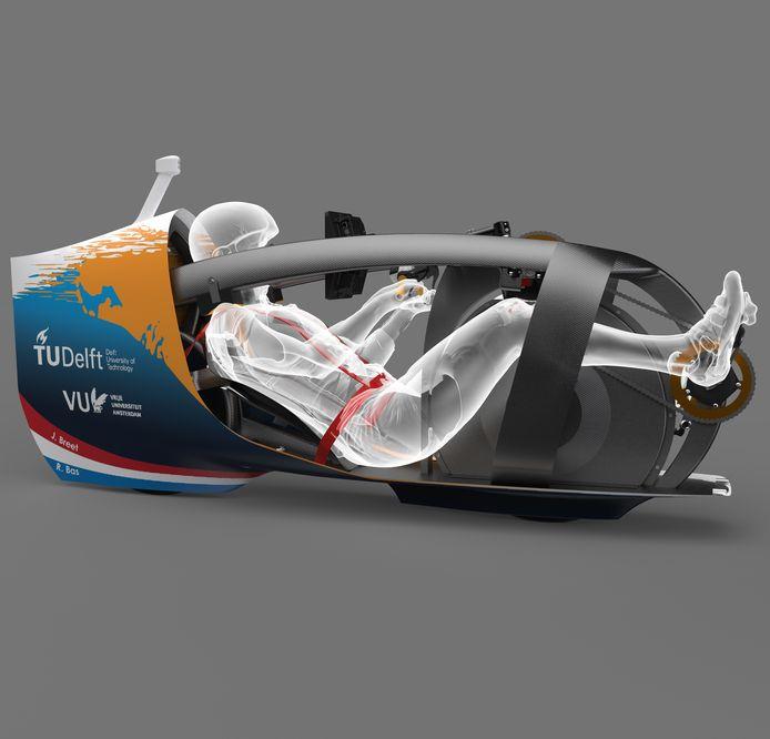 De nieuwe ligfiets van de TU Delft, de VeloX 9, moet nog gestroomlijnder zijn en sneller gaan.