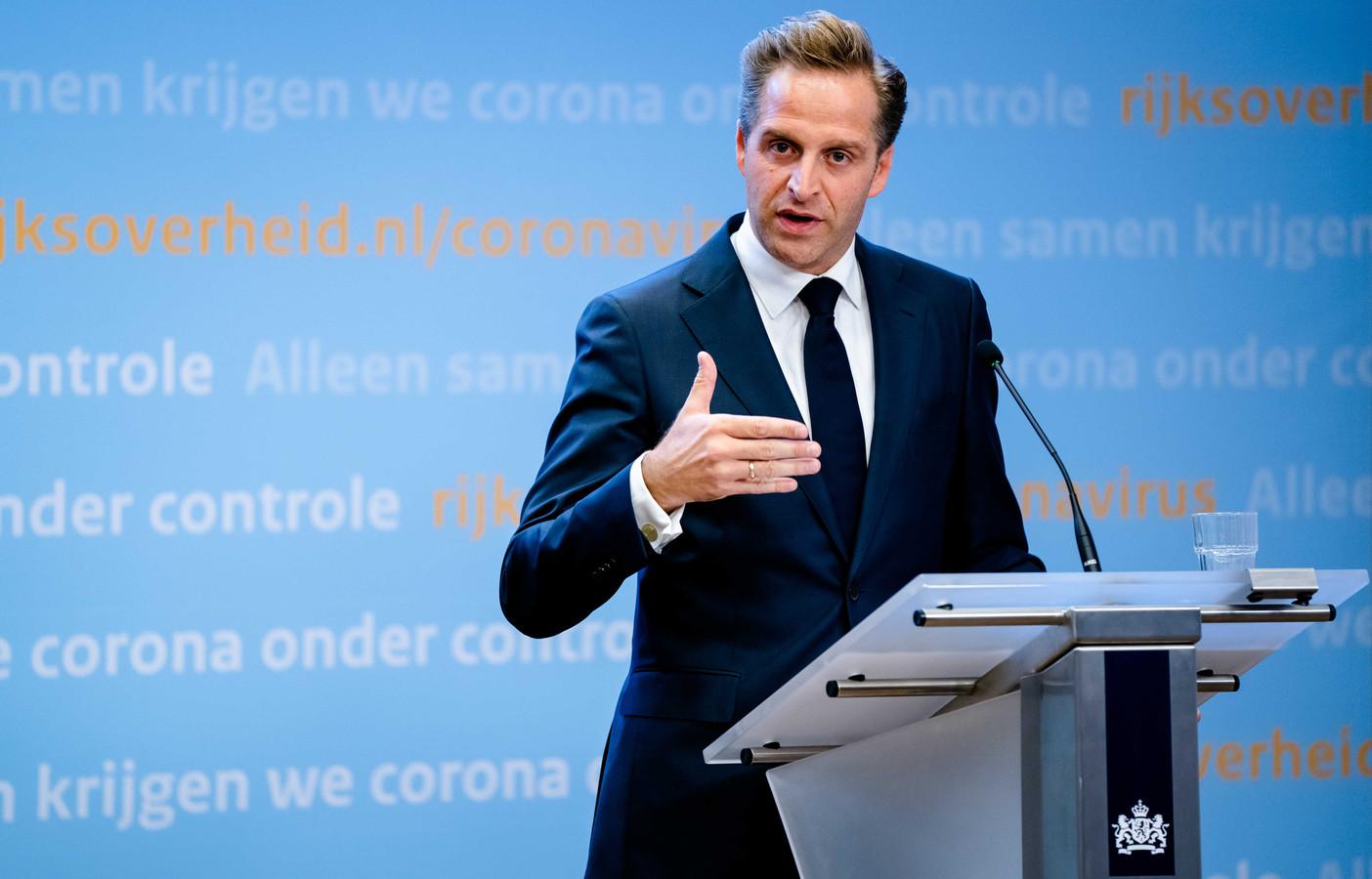 Minister Hugo de Jonge van Volksgezondheid, Welzijn en Sport (CDA)