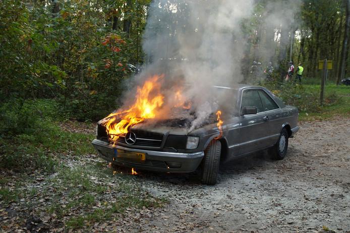 Autobrand in Drunen.