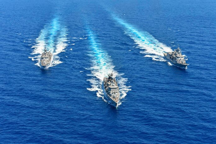 De Griekse marine is met Frankrijk, Italië en Cyprus een militaire oefening begonnen.