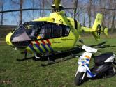 Man gewond na val van fiets in Best, traumahelikopter landt op naastgelegen veldje