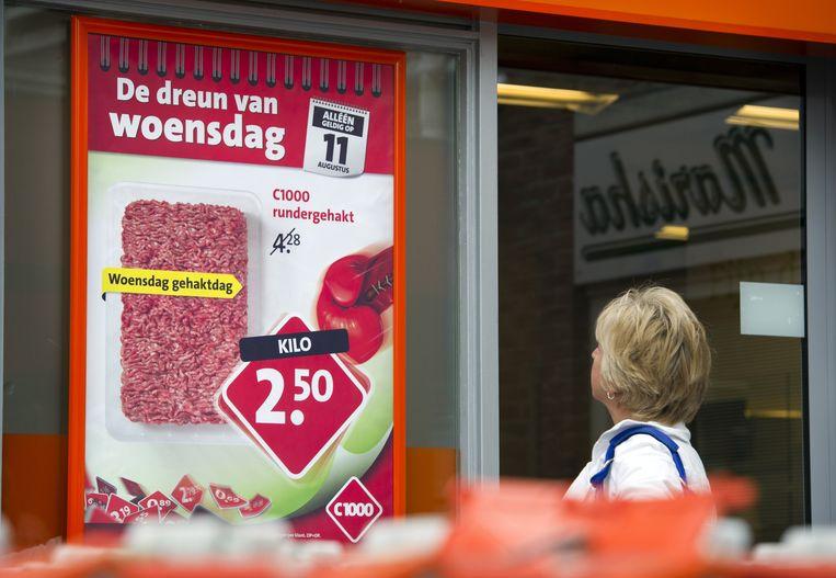 Supermarkten gaven nog nooit zoveel weg. Dat komt door de harde concurrentie tussen de ketens.  Beeld ANP