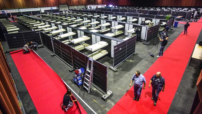 De IJsselhallen van Zwolle zijn ook ingericht voor de opvang van vluchtelingen.
