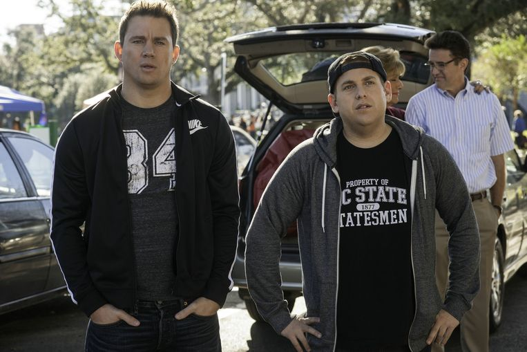 Channing Tatum en Jonah Hill in '22 Jump Street' Beeld Sony Pictures