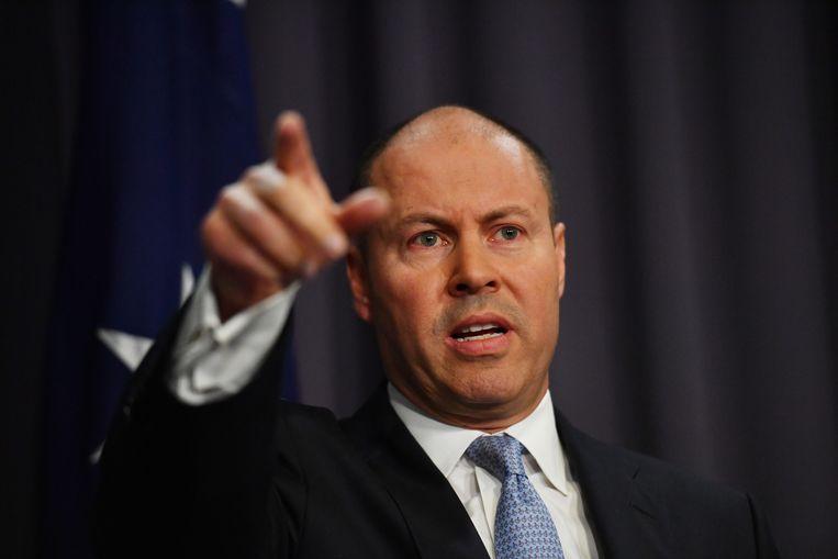 Minister van Financiën Josh Frydenberg. Beeld Getty Images