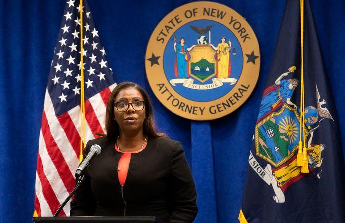 Archiefbeeld. Openbare aanklager van New York Letitia James. (06/08/2020)