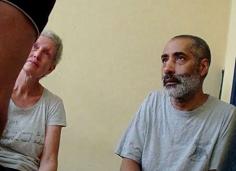 Hilde Van Acker (56) en Jean-Claude Lacote (53) in de cel in Ivoorkust.