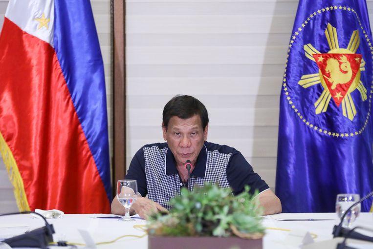 Filipijns president Rodrigo Duterte.