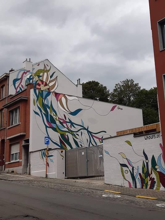 Une nouvelle fresque vient d'apparaître à Liège, rue Montagne Sainte-Walburge.