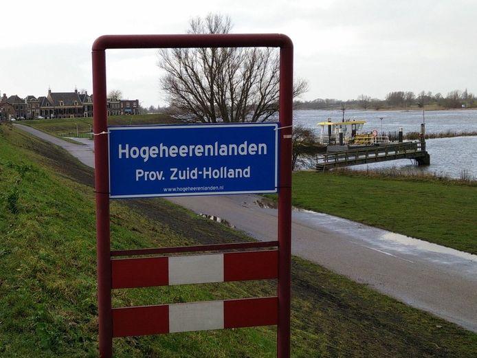 Protest tegen de overgang naar de provincie Utrecht.