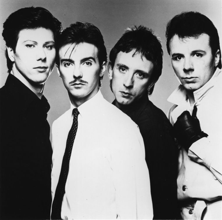 Ultravox, met vanaf links: Warren Cann, Midge Ure, Chris Cross en Billy Currie. Beeld Getty
