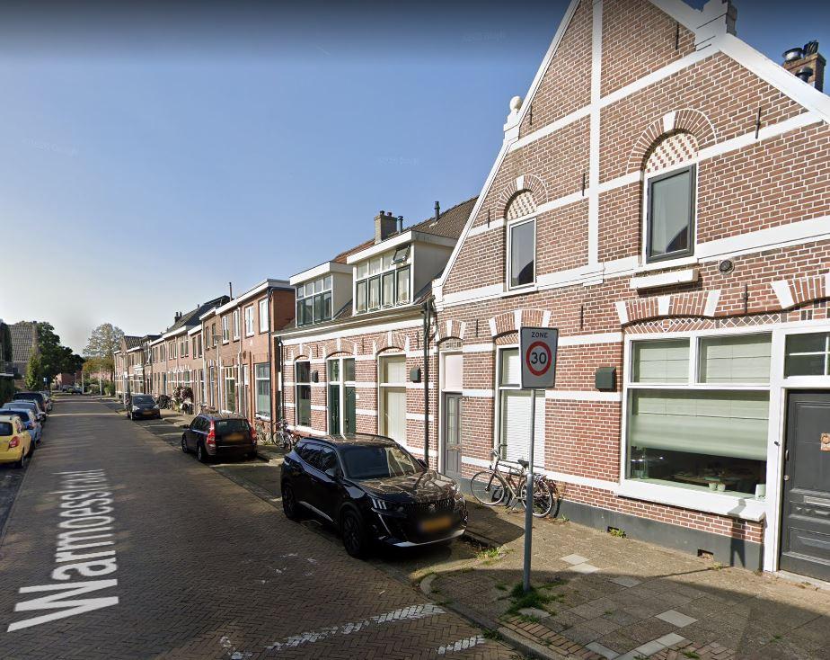 Het begin van de Warmoesstraat in Zwolle.