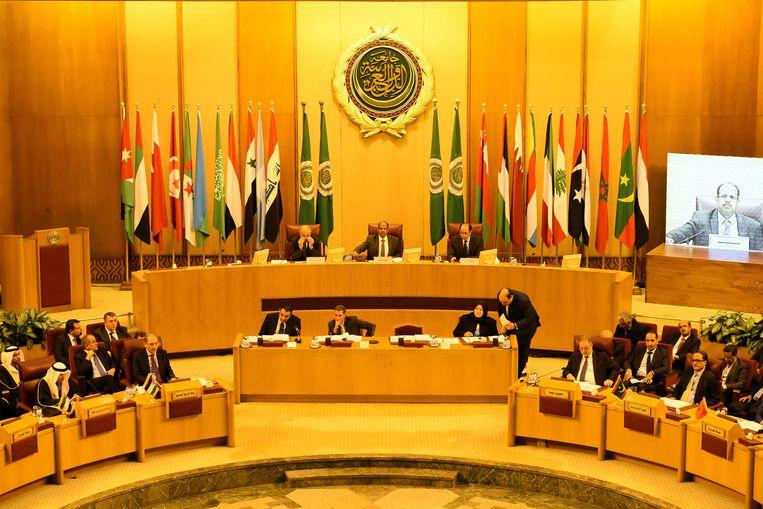 Bijeenkomst Arabische Liga in Caïro gisteren. Beeld AFP