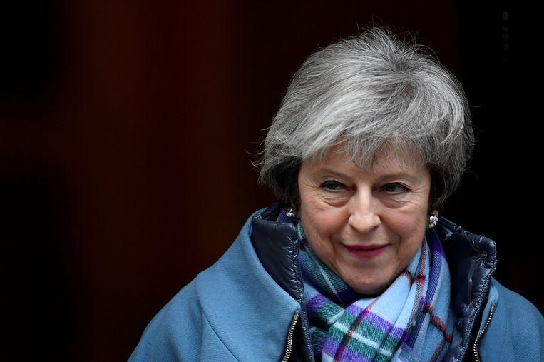 De Britse premier Theresa May. Beeld REUTERS