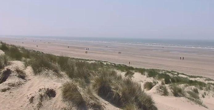 Live beelden van aan de kust in Oostduinkerke.