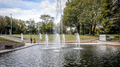 Fontein (zonder beelden) in Albertpark is klaar