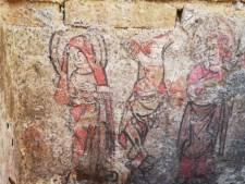 """Nu al drie beschilderde grafkelders ontdekt bij opgravingen aan Onze-Lieve-Vrouwekerk: """"Zeker twee kelders gaan we tentoonstellen"""""""