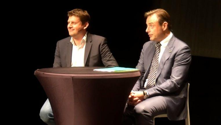 John Crombez (sp.a) en Bart De Wever (N-VA). Beeld rv