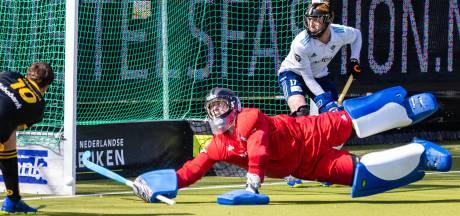 Frustrerende derby voor de keeper van HC Tilburg: 'Op een gegeven moment houdt het op met reddingen'