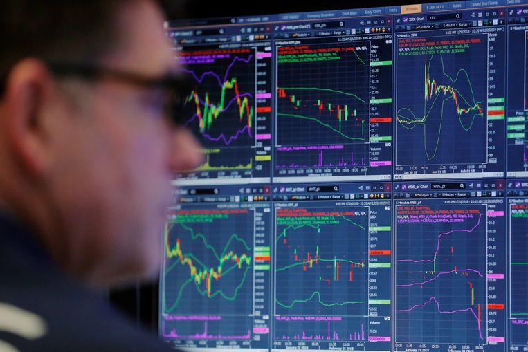 De aandelenbeurs in New York. Beeld REUTERS