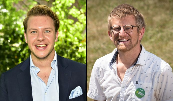 Aaron Demeulemeester (N-VA) en Lech Schelfout (Groen).