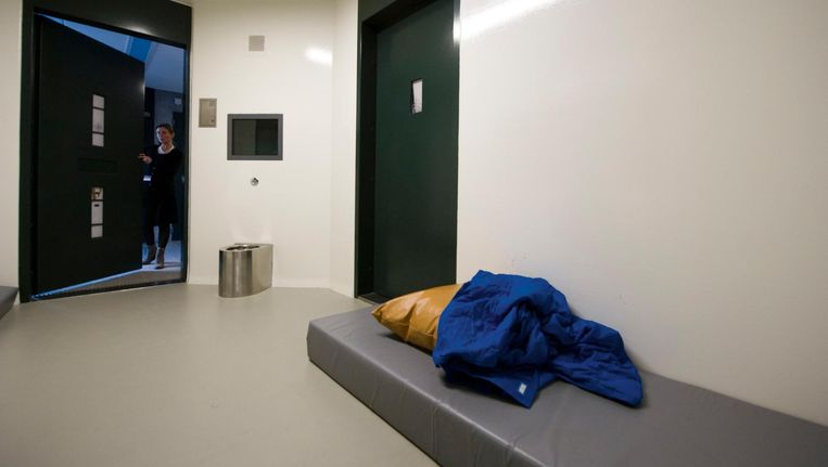 Een isoleercel in het forensisch psychiatrisch centrum Oostvaarderskliniek in Almere Beeld anp