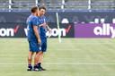 Coach Niko Kovac van Bayern München tijdens de laatste training voor de wedstrijd tegen Arsenal.