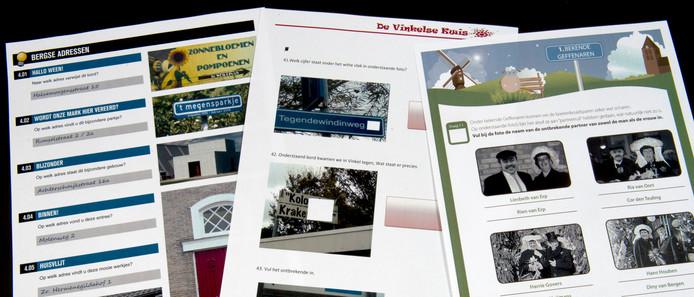 Enkele voorbeelden van vragen uit de dorpsquizzen van Berghem, Vinkel en Geffen van eerdere edities.
