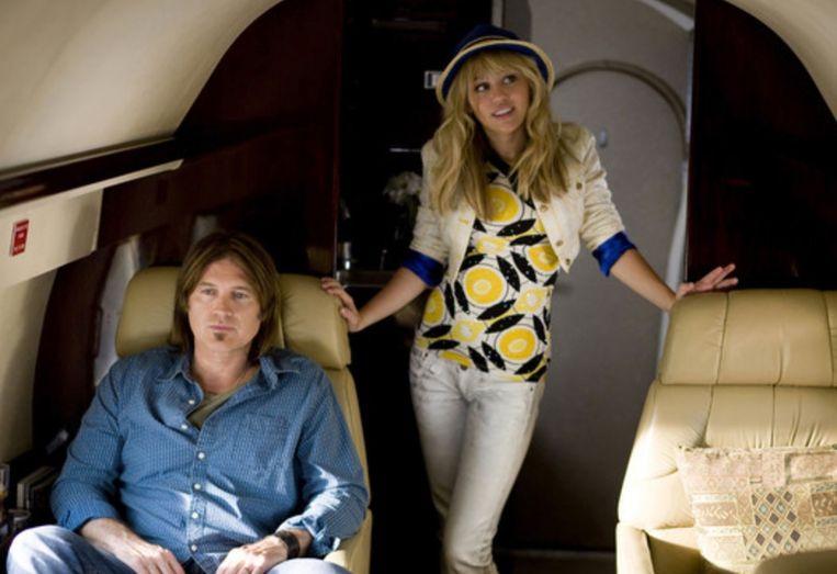Billy Ray Cyrus met zijn dochter Miley Cyrus in 'Hannah Montana'. Ook in de reeks waren ze vader en dochter.