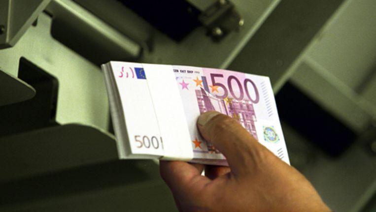 In het derde kwartaal van 2009 waren er volgens cijfers van de Europese Centrale Bank 550 miljoen biljetten van 500 euro in omloop. Foto ANP Beeld