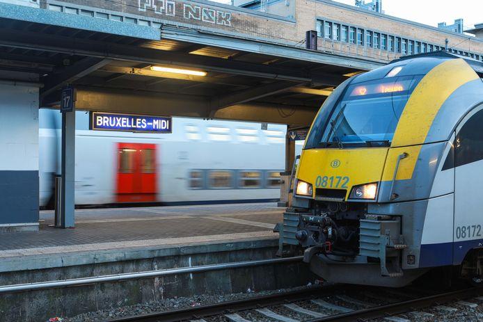 La gare de Bruxelles-Midi.