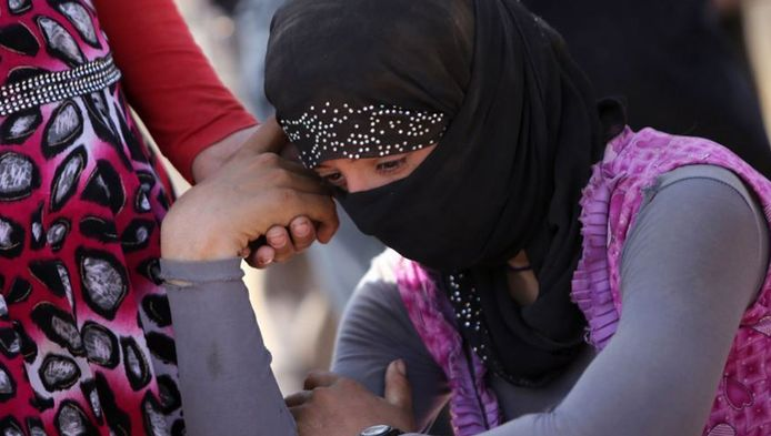 Duizenden Yezidi-vrouwen en -meisjes werden door IS op markten als seksslavinnen verkocht.