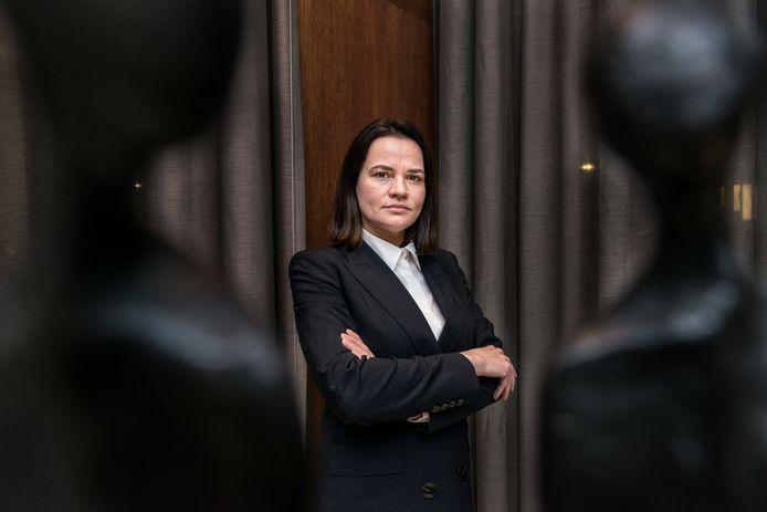 Wit-Russische oppositieleidster Svetlana Tichanovskaja.