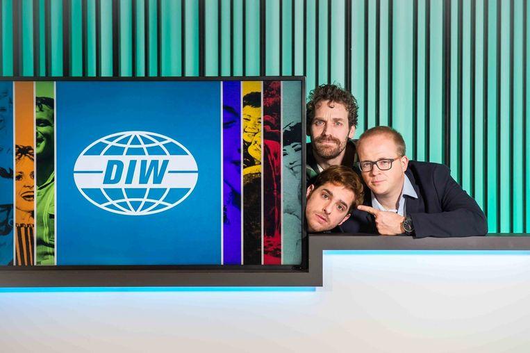 Jelle De Beule, Otto-Jan Ham en Sven de Leijer. Beeld VRT/Joost Joossen