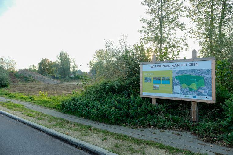 Dit gedeelte van het Zeenpark is momenteel nog ingekleurd als jachtgebied.