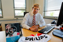 Voorzitter Harrie Timmermans van de Supportersvereniging PSV
