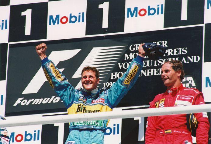 Michael Schumacher (links).