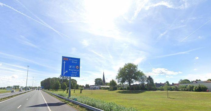Langs de A59 bij Waalwijk komt op zijn vroegst in 2026 een geluidsscherm.